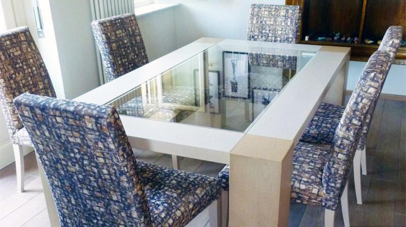 Tavolo nabu legno e cristallo for Tavolo cristallo e legno